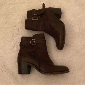 Frye Leather Booties - Brown